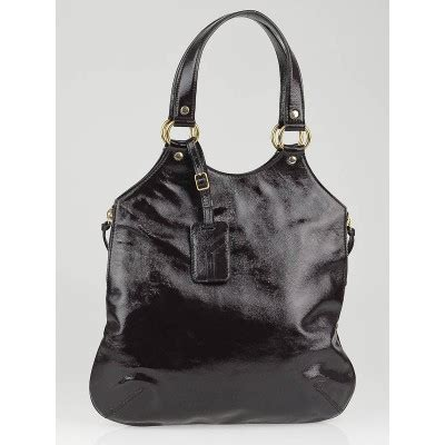 Yves Laurent Tribute Patent Bag by Yves Laurent Brown Patent Leather Small Tribute