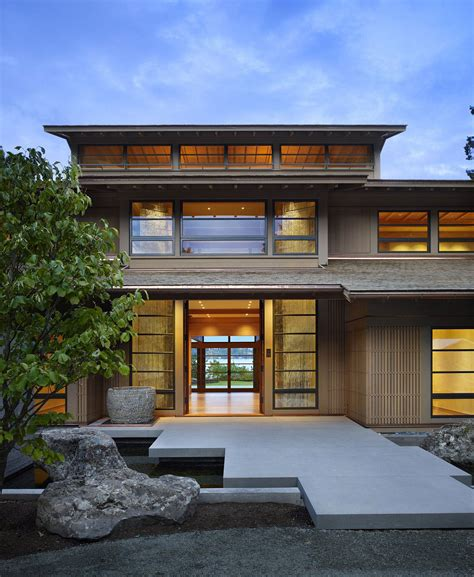 house design asian modern contemporary house in seattle with japanese influence