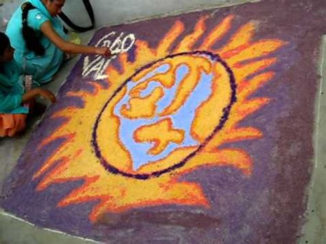 rangoli themes for global warming global warming rangoli 9 8 2010 069 avi youtube
