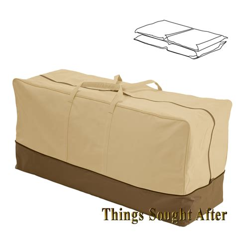 Seat Cushion Storage Bag For Chair Bench Chaise Patio Patio Furniture Cushion Storage