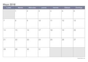 Calendario 2018 Mayo Calendario Mayo 2018 Para Imprimir Icalendario Net