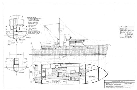 boat plans trawler passagemaker lite 39 fast seaworthy fuel efficient long