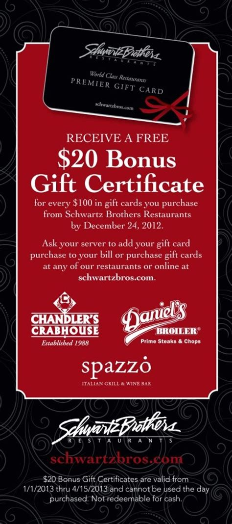 Schwartz Brothers Gift Card - 17 best images about daniel s broiler leschi on pinterest creme brulee sweet