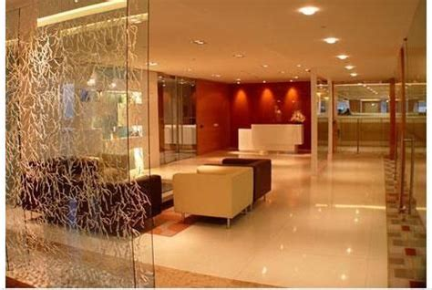 interior design drawing room  glass partition  living