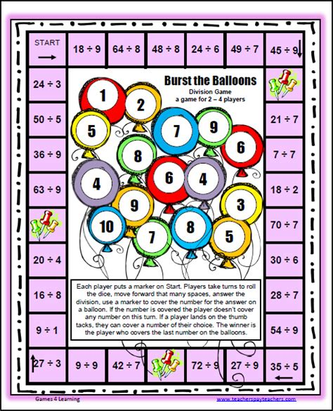 printable long division games fun games 4 learning freebies