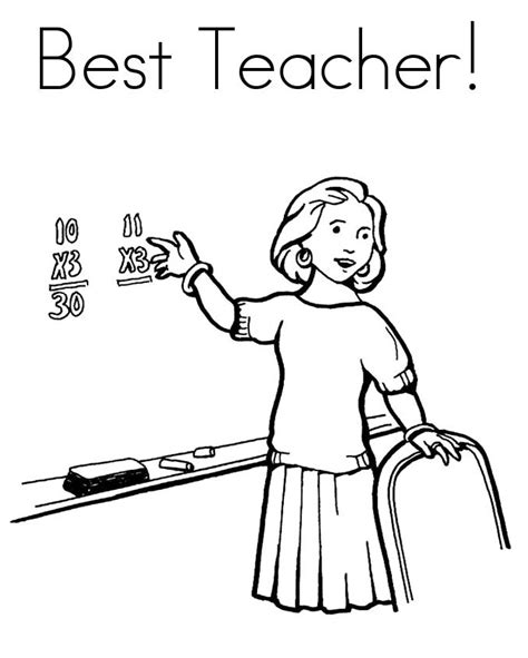 Teacher Drawing Cliparts Co Coloring Pages For Teachers