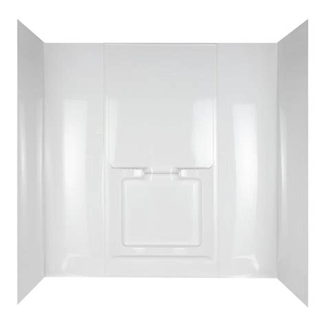 adhesive bathtub walls allura 31 in x 60 1 2 in x 58 in 5 piece easy up