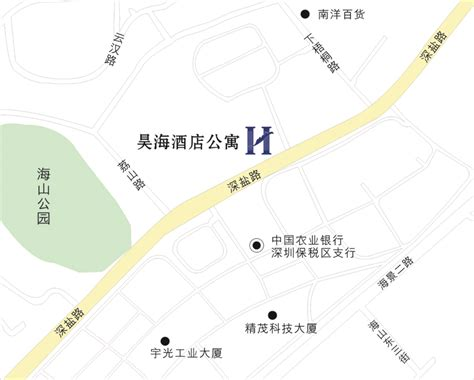 location map haohai hotel residence shenzhen