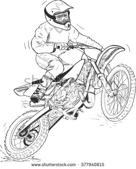 how to draw a motocross bike bike motorcross pencil and in color bike