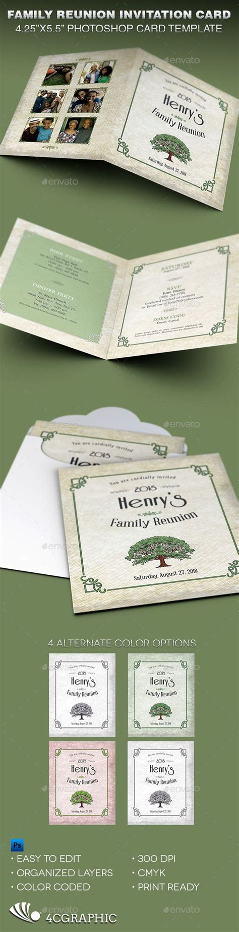 family card templates family reunion invitation card template reunions family