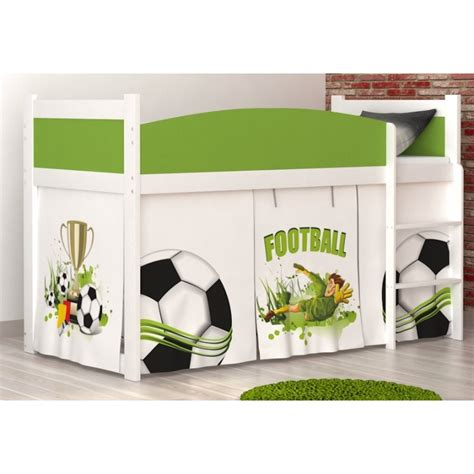 Football Mid Sleepers by Loft Bed Mid Sleeper Football With Mattress And Curtains