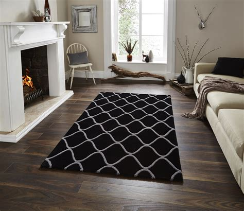 Best Seller Simple Ped Wolfis High Quality wave design tufted 100 wool rug contemporary home