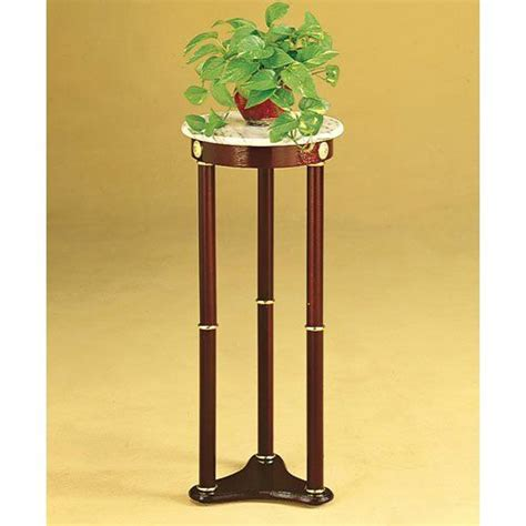 table top plant stands indoor coaster plant stand side table white marble top and