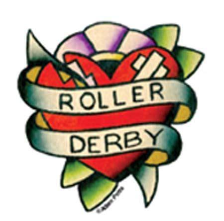 Roller Derby Sticker by Mini Roller Derby Sticker Stitched Up Stickers