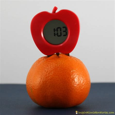 Fruit Powered Clock by Build A Lemon Battery Inspiration Laboratories
