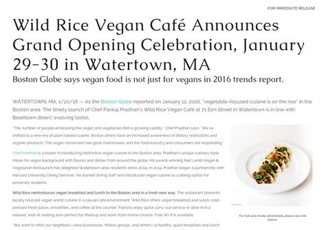 new year restaurant press release brand strategy marketing pr strategy for new