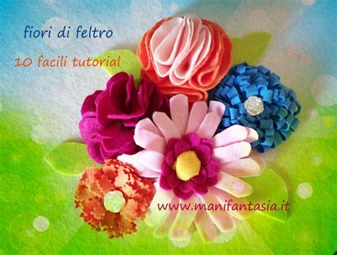 fiori feltro modelli fiore di pannolenci tutorial schemi manifantasia