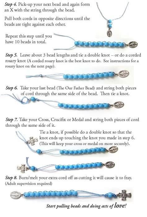 how to make a prayer bead bracelet diy prayer rosary catholic prays praying and