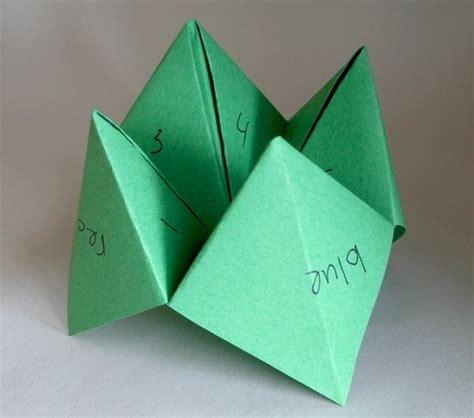 Paper Folded Fortune Teller - origami fortune teller nostalgie