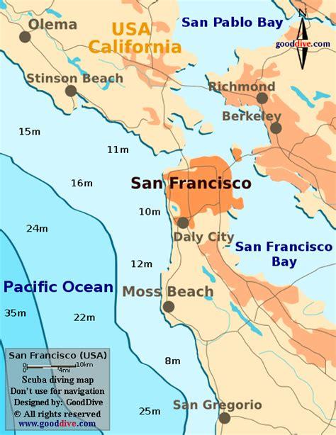 san francisco bay us map map of san francisco bay
