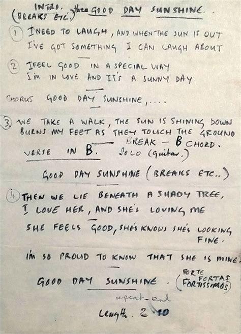 lyrics mccartney paul mccartney s lyrics for day 1966 the