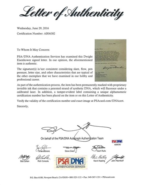 Official White House Letterhead lot detail president dwight d eisenhower typed signed letter on white house letterhead