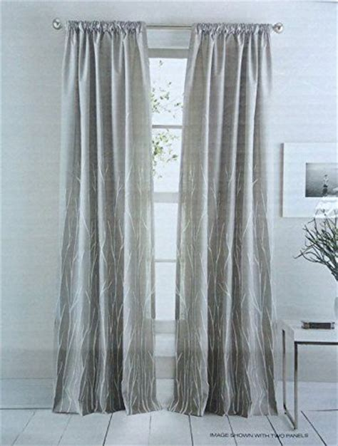 dkny curtains drapes dkny whitestone branches road pocket curtains 100 cotton
