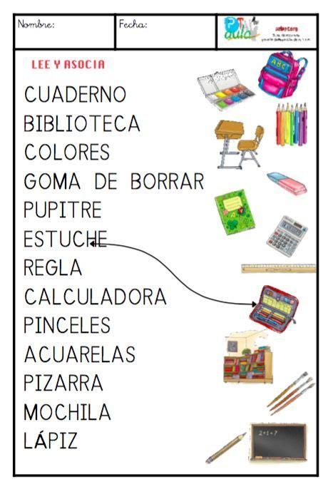 imagenes de palabras polisilabas material escolar may 250 scula vocabulario pinterest