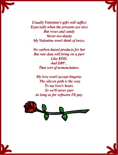 silly valentines poems valentines day poems for