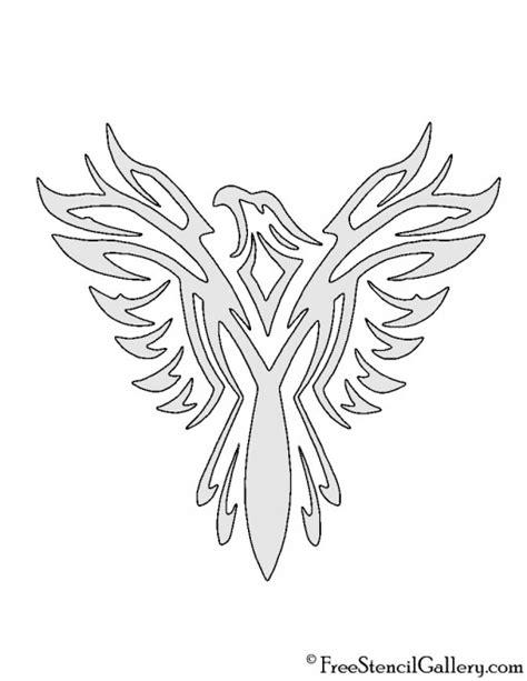 printable eagle stencils eagle tribal stencil free stencil gallery