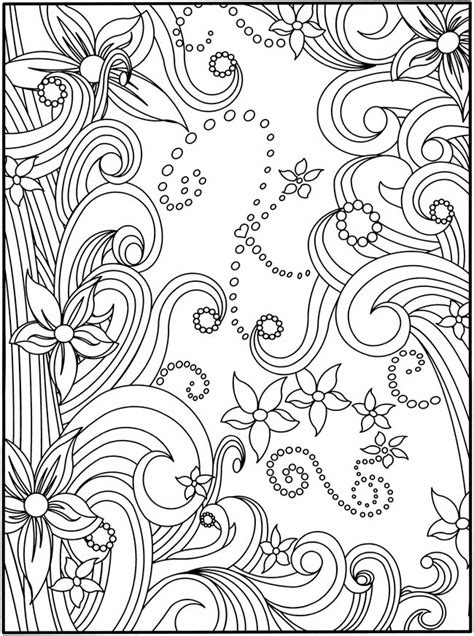 Welcome To Dover Publications Flower Design Coloring Pages