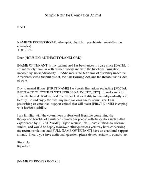 Support Letter For Priority Housing emotional support animal letter sle therapy