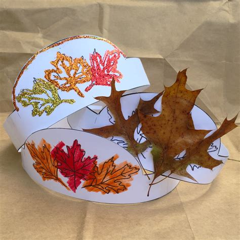 printable autumn crown fun family crafts