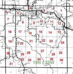 colorado township range map section township range map