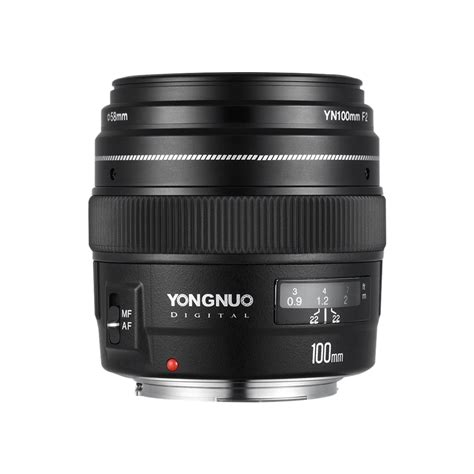Lensa Yongnuo 100mm Yn100mm F2 For Dslr Canon yongnuo yn100mm f2 medium telephoto lens prime lens large aperture auto focus lens for canon eos