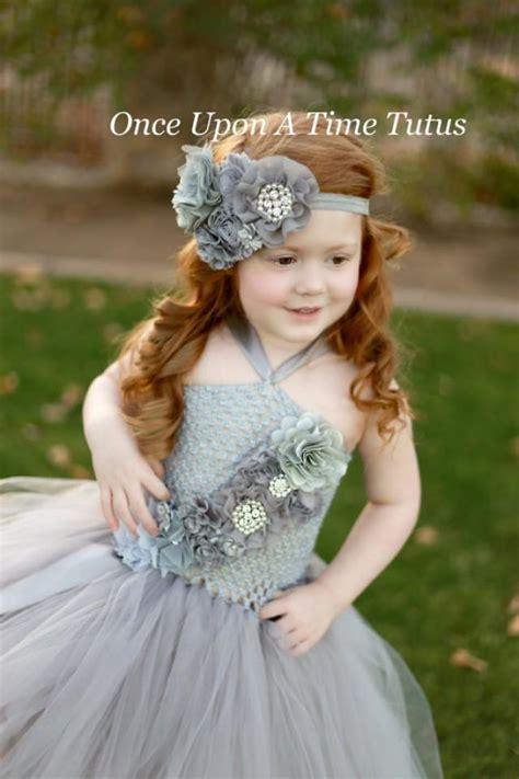gray couture satin shabby flower headband newborn baby grey hairbow hair bow