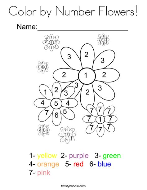 color by number flower coloring pages color by number flowers coloring page twisty noodle