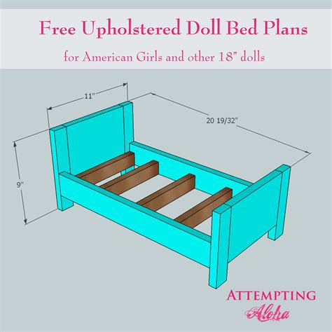 doll bed plans attempting aloha upholstered american girls doll bed plans