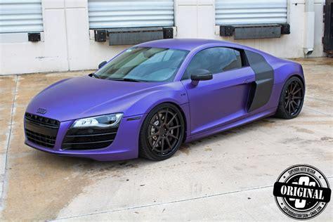 Purple Audi R8 matte purple audi r8 by superior auto design