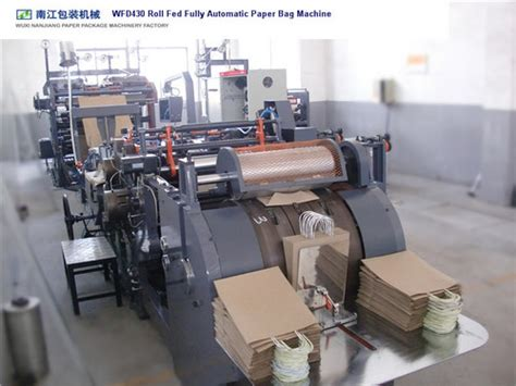 wfd430 roll fed fully automatic paper bag machine with