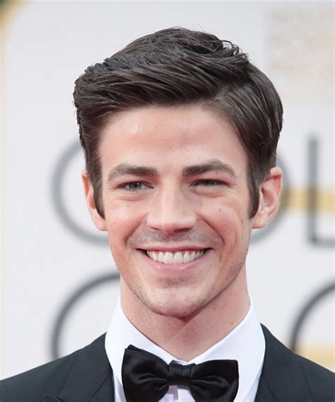 grant gustin short straight formal hairstyle