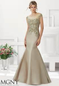 larissa satin evening gown beaded lace appliques morilee