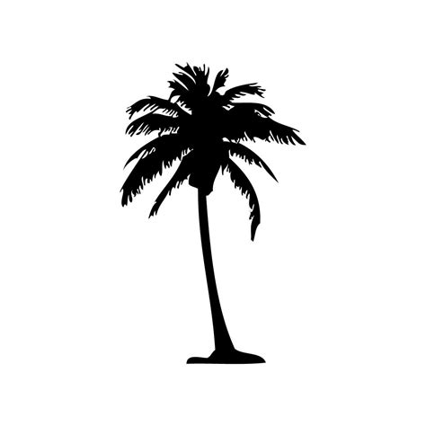 palm tree silhouette clipart best