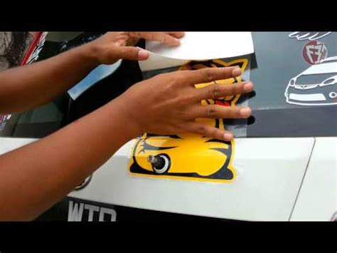teknik ringkas pemasangan stiker wiper kucing