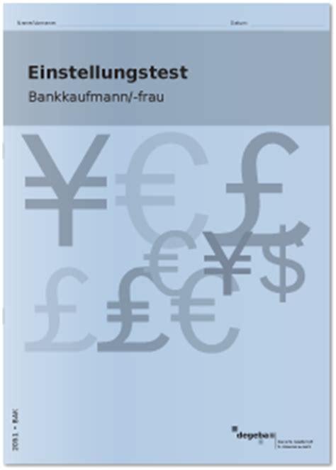 einstellungstest bank einstellungstest bankkaufmann bankkauffrau kaufen degeba