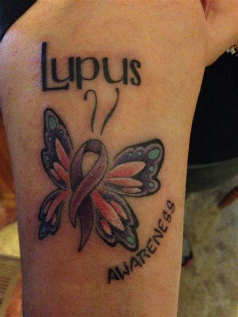 lupus tattoos my lupus help find a cure butterfly