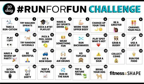 fitbit 30 day challenge running challenge run ideas fitness magazine