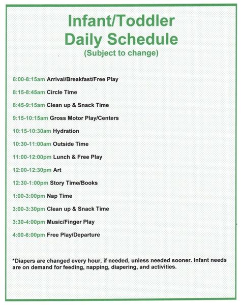 best 25 daycare schedule ideas on pinterest childcare