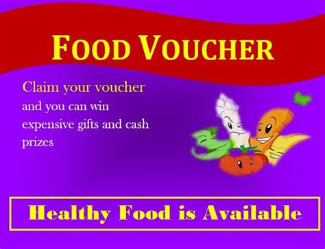 printable meal vouchers 7 free sle food voucher templates printable sles