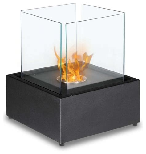 Tabletop Gel Fireplace by Cube Tabletop Bio Ethanol Fireplace Black Tabletop Fireplaces By Soothing